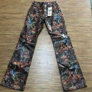 Revolt Coated Sz 5/6 Snakeskin Floral Jeans